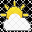 Sun Cloud Weather Icon Cloud Sun Icon