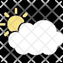 Sun behind cloud Icon