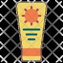 Sun Block Beach Cream Icon