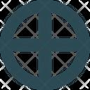 Sun Cross Icon