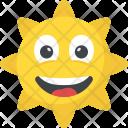 Sun Face Happy Icon