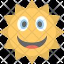 Sun Face Emoji Icon