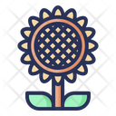Sun Flower Spring Plant Icon