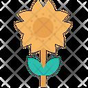 Sun Flower Plant Leaf Icon