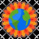 Sun Flower Flower Earth Icon