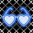 Sun Glasses Love Heart Icon