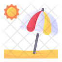 Beach Sun Umbrella Landscape Icon