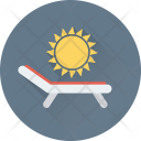 Sunbathe Tanning Sun Icon