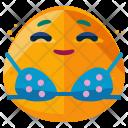 Sunbathing Emoji Face Icon