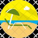 Sunbathing Relax Beach Icon