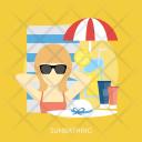 Sunbathing Mask Women Icon