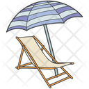 Sunbed Beach Sun Tanning Icon