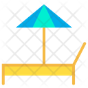 Beach Bed Umbrella Icon