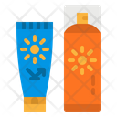 Sunblock Uv Lotion Icon