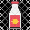 Sunblock Lotion Tube Icon