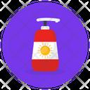 Sunblock Sunblock Cream Sunscreen Lotion Icon