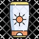 Sunblock Summer Cream Icon