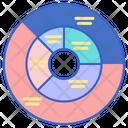 Sunburst Chart Icon