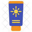 Sunblock Beach Cream Icon