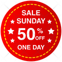 Sunday Sale Banner Icon