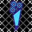 Bouquet Calendula Badge Icon