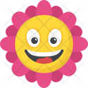 Sunflower Smiley Icon