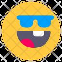 Sunglasses Cool Emoji Icon