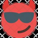 Sunglasses Devil Icon