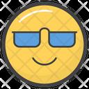 Sunglasses Emoticon Icon