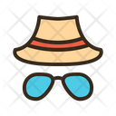 Sunglasses Hat Summer Protection Summer Equipment Icon
