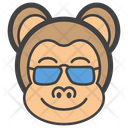 Sunglasses Monkey Icon