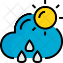 Sunhine Rainy Weather Icon