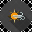 Sunny Windy Wind Icon