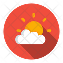 Sunny Sun Behind Cloud Cloud Icon