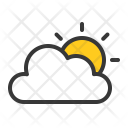 Sunny Weather Cloud Icon