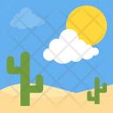 Desert Landscape Hot Icon