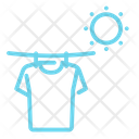 Sunny Sun Drying Clothes Icon