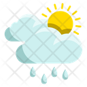 Sunny Rain Weather Icon