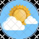 Sun Cloud Climate Icon