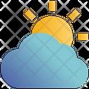 Sunny Cloud Sun Icon