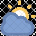 Sunny Cloudy Sun Icon