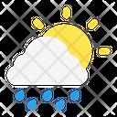 Sunny And Rainy Sun Rain Icon