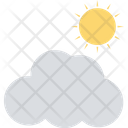 Sunny Cloud Weather Cloudy Day Icon