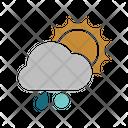 Sunny rainy snowball Icon