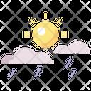 Sunny Shower Sunny Sun Icon