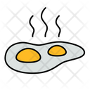 Sunny Side Up Breakfast Egg Icon