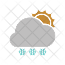 Sunny Snowfall Icon