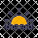 Sunset Sea Ocean Icon