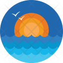Sunrise Morning Sea Icon