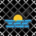 Sunrise Sea Ocean Icon